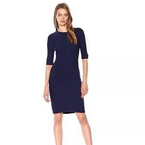 Armani Exchange Navy Blue fitted sheath dress XL